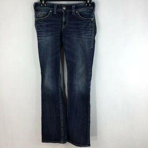 "Silver Suki 17"" Surplus Flap Pocket Boot Cut Jeans"